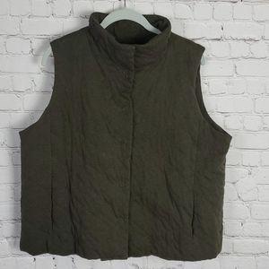 Eileen Fisher Green XL Vest